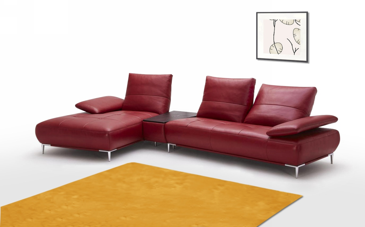 Contemporary Italian Leather Sectional