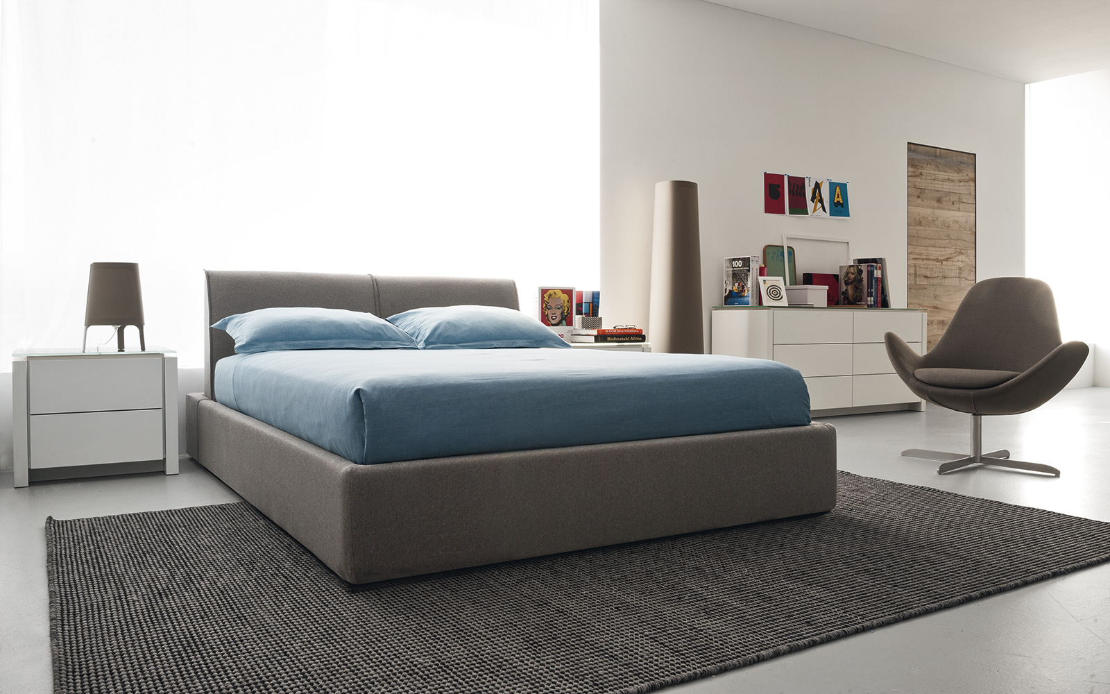 calligaris beds soothing slumber with ergonomic invigoration  - alameda queen bed