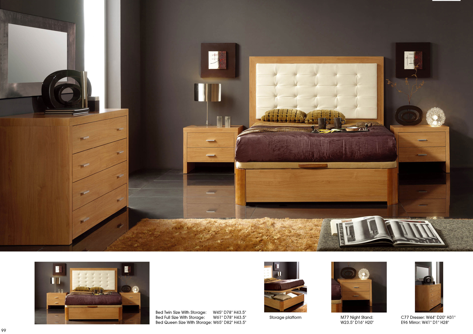 515 Alicante Cherry Bedroom Furniture Set, Dupen Spain - Italmoda ...