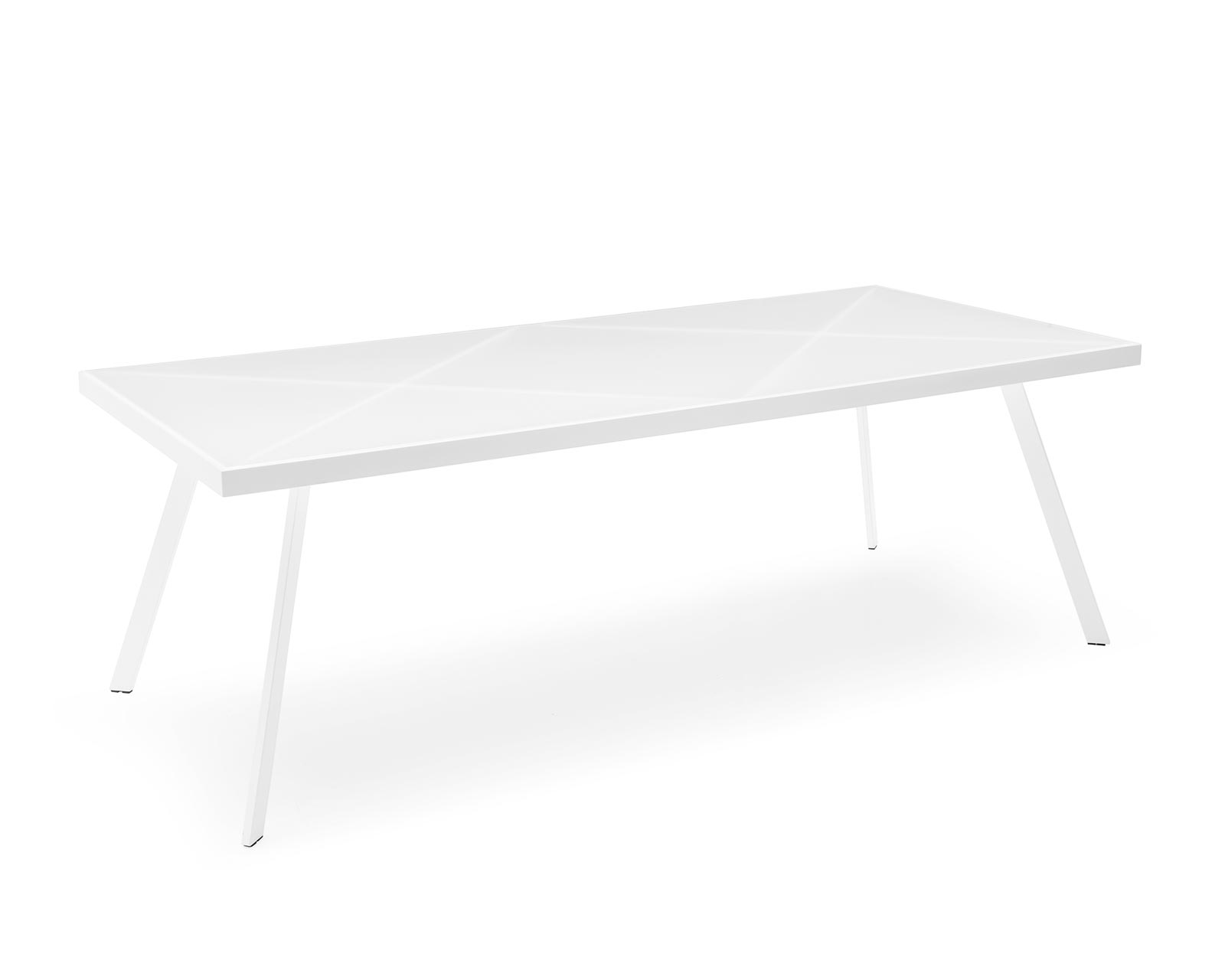 CS/4081-R 220 Frame Metal/Glass Dining Table, Calligaris Italy ...
