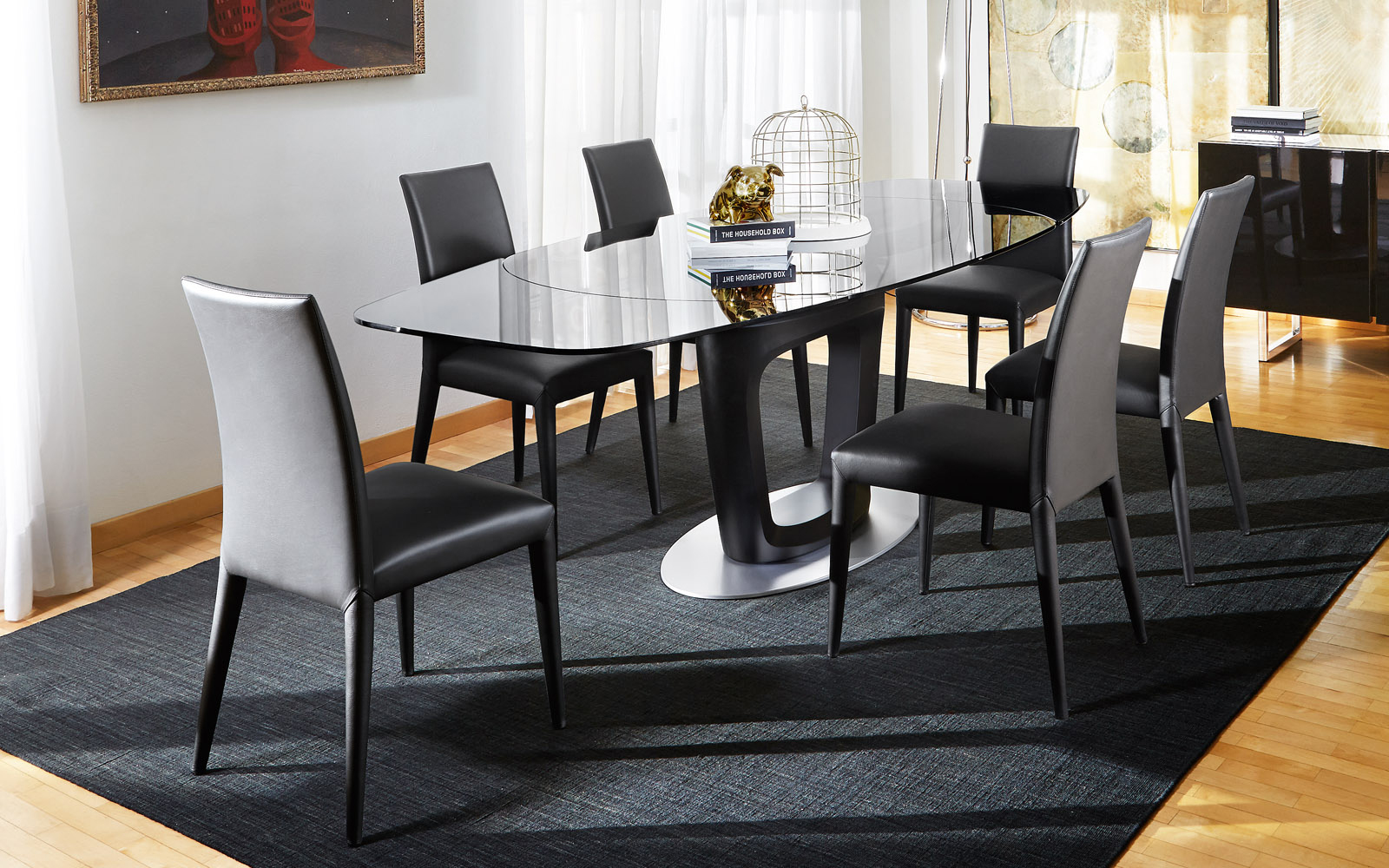 Orbital Glass Dining Table