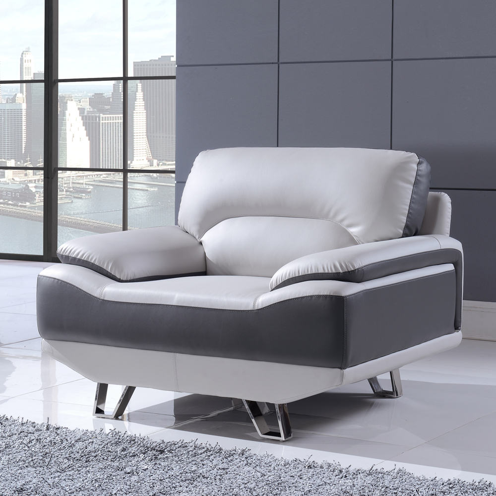 7330 Light Grey/Dark Grey Sofa