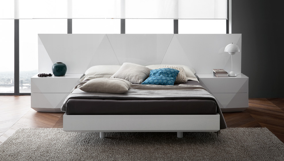 Sapphire White Bed By Rossetto Italy Previous