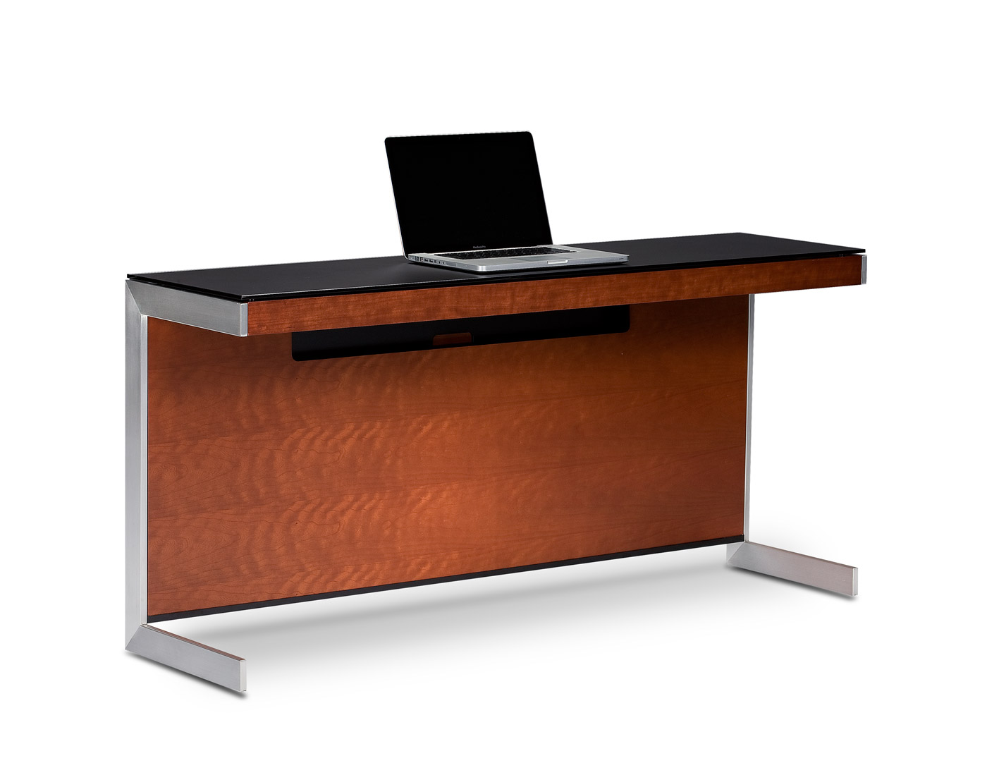 by built a luxurious with in sequel chocolate the desk and top bdi products glass