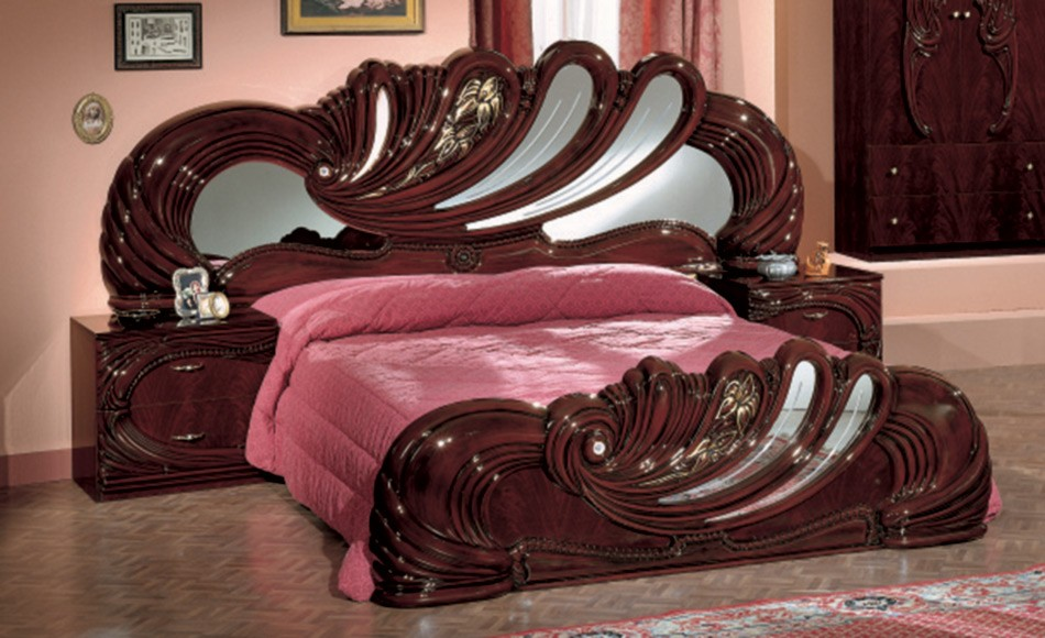 Select $3,140.00. Modrest Vanity Mahogany   Italian Classic Bedroom Set