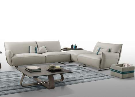 Cocoon Sectional with Open Corner, Gamma Arredamenti Italy