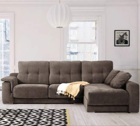Air Fabric Sectional with Sliding Seats, ESF