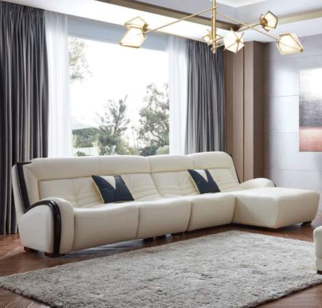 6028 Sectional White Right Facing, ESF