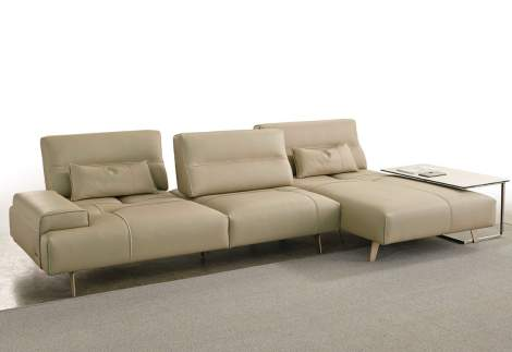 Smart Sectional Sofa with Chaise, Gamma Arredamenti Italy