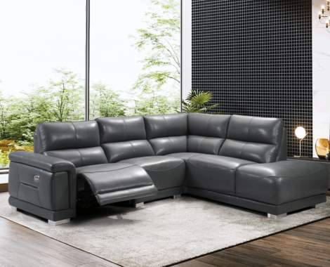 2901 Sectional w/1 Electric Recliner Right Facing, ESF