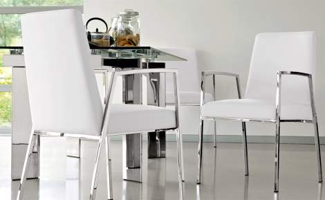 CB/1287-SK Amsterdam Dining Armchair, Connubia by Calligaris Italy