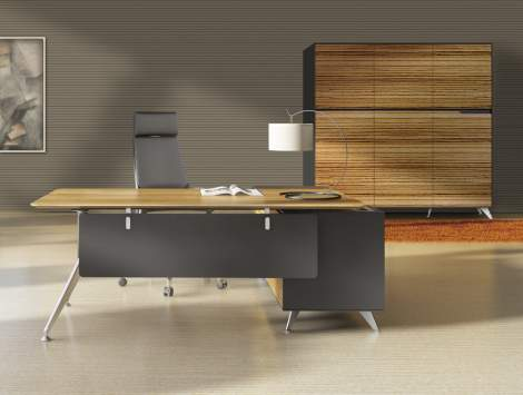 No. 482 Executive Desk with Left Return Cabinet, Unique 400 Collection