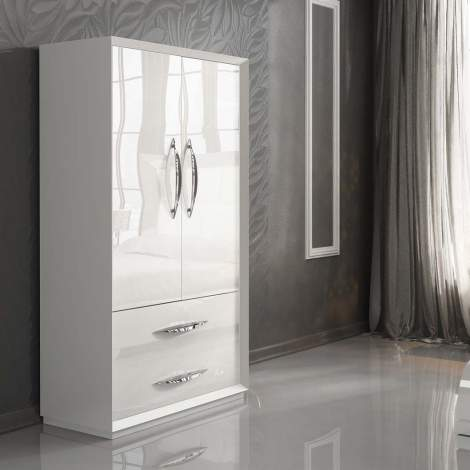Carmen White 2 Door Wardrobe, Franco Spain