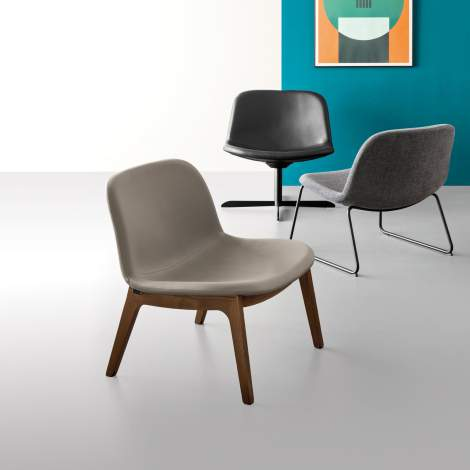 CS/3394-W LH College Lounge Chair, Calligaris Italy