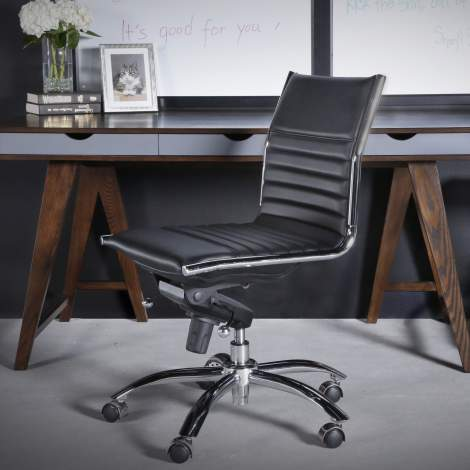 Dirk Armless Low Back Office Chair