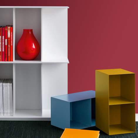 CS/6041-C Division Bookcase Removable Container, Calligaris Italy