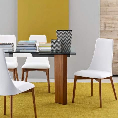 CS/1423-LH Etoile Leather Dining Chair, Calligaris Italy