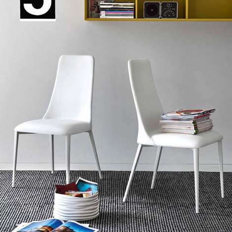 CS/1424-LH Etoile Leather Dining Chair, Calligaris Italy