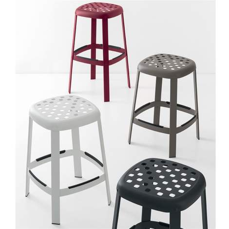 CB/1958 Industrial Bar Stool, Connubia by Calligaris Italy