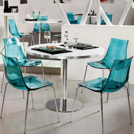 CB/1298-I Led Dining Chair, Connubia by Calligaris Italy
