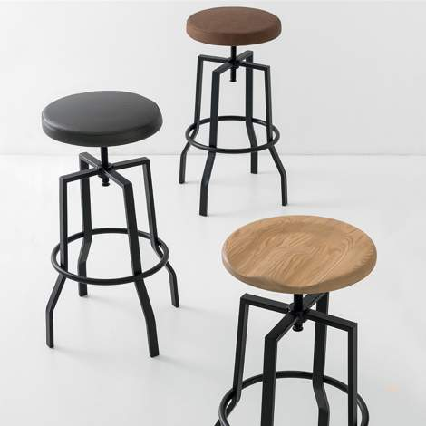 CB/1960 Rocket Swivel Bar Stool, Connubia by Calligaris Italy