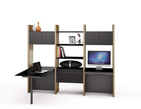 Semblance 5413-PD Office System with Desk, BDI