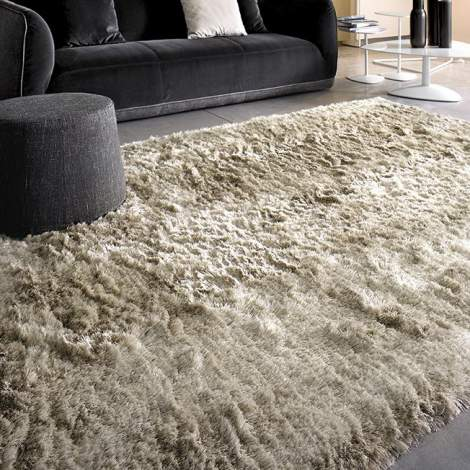 7058-A Shiny Polyester Rug, Calligaris Italy