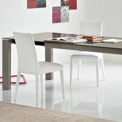 CB/4069-LV 180 Sigma Glass Dining Table, Connubia by Calligaris Italy