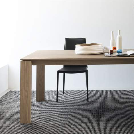 CB/4069-LL 180 Sigma Wood Dining Table, Connubia by Calligaris Italy