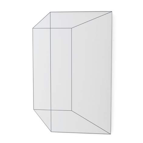 CS/5121-G Volume Mirror, Calligaris Italy