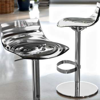 CB/1288 L'eau Adjustable Height Bar Stool, Connubia by Calligaris Italy