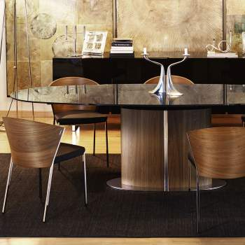 CS/4043 Odyssey Oval Dining Table, Calligaris Italy